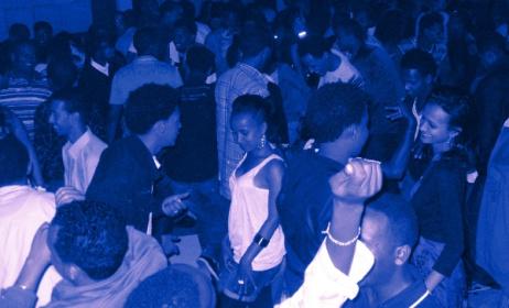 Revelers at a music concert in Eritrea.