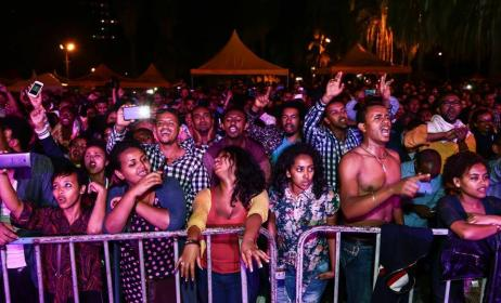 Fans enjoying music at the Selam Festival. Photo by Quaint Photography