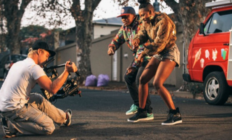 Shooting a music video. Photo: channelo.dstv.com