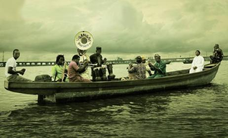 The Gangbé Brass Band in a scene from the documentary 'Gangbé'.