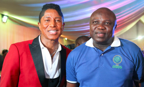 Jermaine Jackson, Governor Akinwunmi Ambode of Lagos state. Photo: Facebook