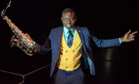 South African-based Nigerian jazz musician Ola Sax. Photo: www.olasax.com