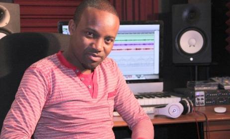 Swazi producer Sabelo 'Subjamz ' Sithungo in his studio. Photo: www.swazilandbeverages.com