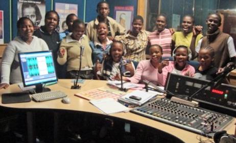 Recording a children's radio show in Swaziland. Photo: news.bbc.co.uk