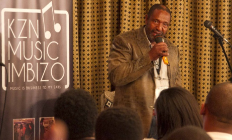 Themba Mkhize speaking at last year's KZN Music Imbizo. Photo: supplied.