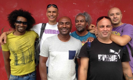 Zanmari Baré and his band from Reunion. Photo: Facebook