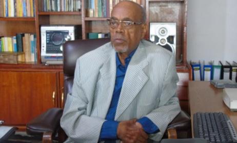 Amha Eshete, Ethiopia's pioneer music publisher and distributor. Photo: Arefaynie Fantahun