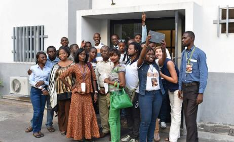 18 jeunes managers ont participé à l'atelier à Kinshasa. Photo: Goethe-Institut Kinshasa
