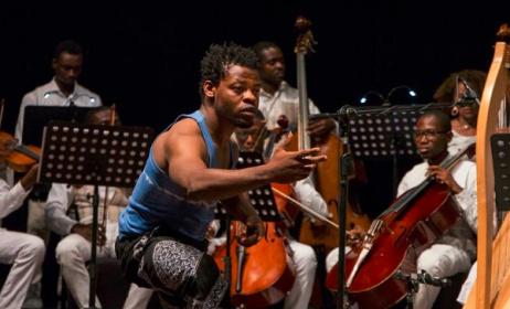 Qudus Onikeku performing at the New Horizons concert. Photo: Facebook