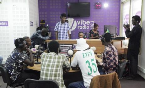 Vibe Radio Senegal recording studio