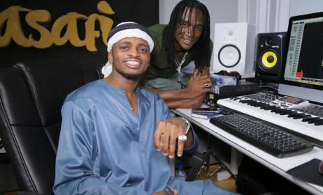 Diamond Platnumz in studio with Jah Prayzah. Photo: www.jahprayzah.com