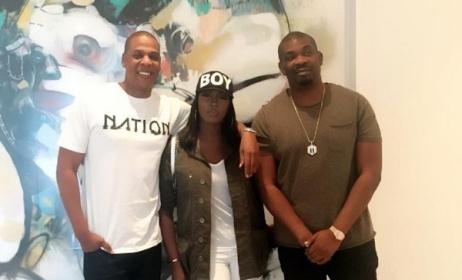 Jay Z, Tiwa Savage and Don Jazzy. Photo: Instagram