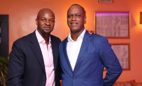 Chris Ubosi of Megalectrics, left, with Alex Okosi of MTV. Photo: that1960chick