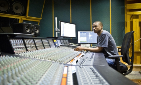 A sound engineer at work. Photo: www.mg.co.za