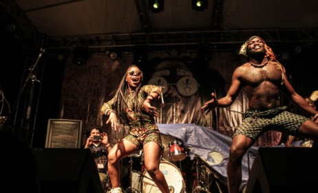 Gato Preto on Stage at Nyege Nyege Festival. Photo: www.kenyanvibe.com