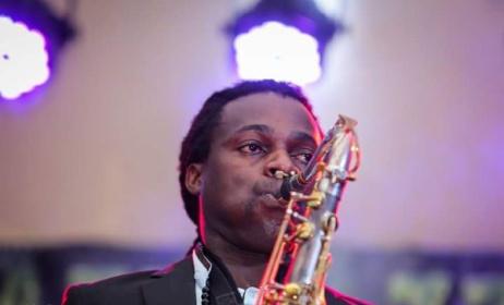 Ugandan saxophonist Herbert Rock. Photo: Herbert Rock's Facebook page