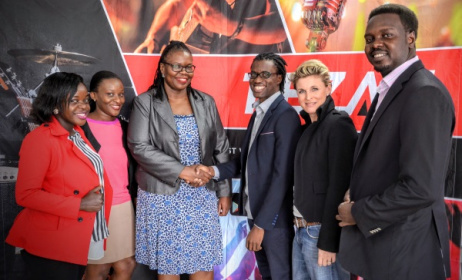 Fezah team and Jazz FM team during the signing of the agreement. Photo courtesy of Elijah Kitaka