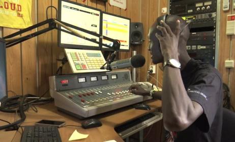 A radio presenter at work. Photo: www.vimeo.com