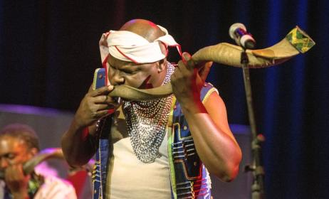 World-renowned South African musician Dizu Plaatjies. Photo: Music In Africa