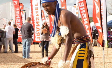 A drummer at National Arts Festival in Grahamstown