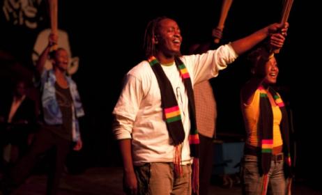 Eric Wainaina leads the cast of his production, Mo Faya. Photo: Flickr