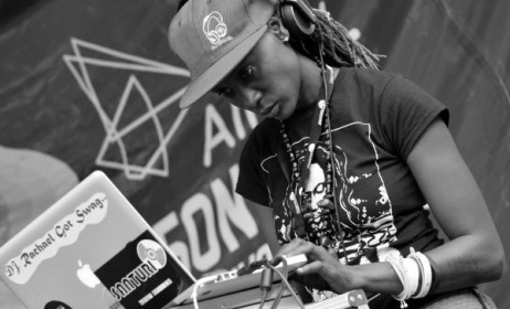 DJ Rachael from Uganda is the initiator of Femme Electronic.  Photo: Santurisafari.org