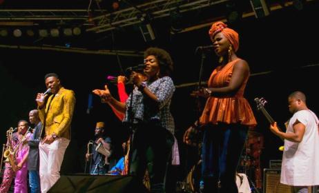 Bantu Band members performing at an Afropolitan Vibes concert. Photo: Dohdohndawa