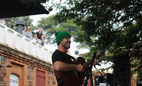 Matthew Mole at the Park acoustics. Photo: J.Driver