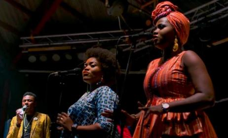 Members of the Bantu Band, hosts of the Afropolitan Vibes concert. Photo: Dohdohndawa