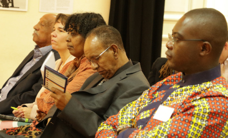 Audience members listen in on a Music In Africa AGM Plus panel discussion in Addis Ababa.  Photo: MIA