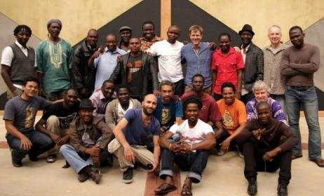 Participants of the Global Music Campus in South Africa in 2012.