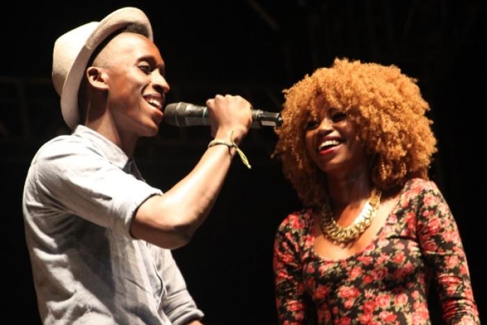 Ugandan artists Bruno Kigundu and Shebah at the Airtel Trace Music Star contest. Photo: mushroomincbiz.wordpress.com